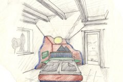 Entwuerfe_Konzept-eines-Bettes-mit-symbolisierter-Landschaft